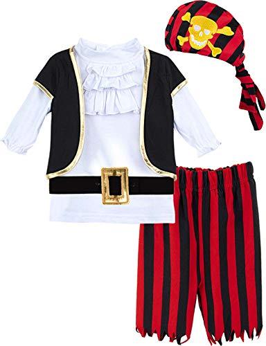 MOMBEBE COSLAND Baby Jongens Piraat Kostuum 5 Stuks Set