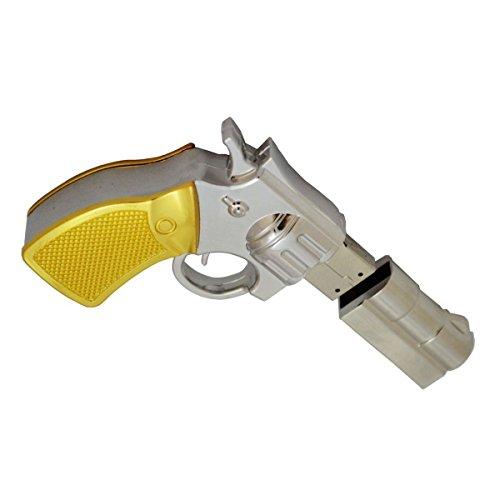 WooTeck 16GB Metal Revolver Pistol Gun Shape USB Flash Drive Pen Drive Memory Stick