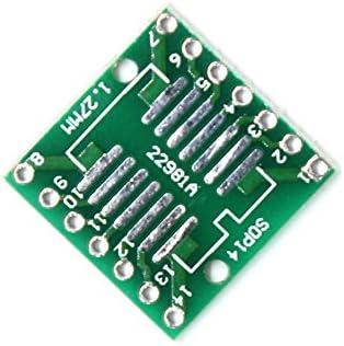2PCS LDTR-YJ032//B Dual-Sided SOP14//SSOP14//TSSOP14 SMD to DIP Adapter Board PCB Development Board Computer Accessories,