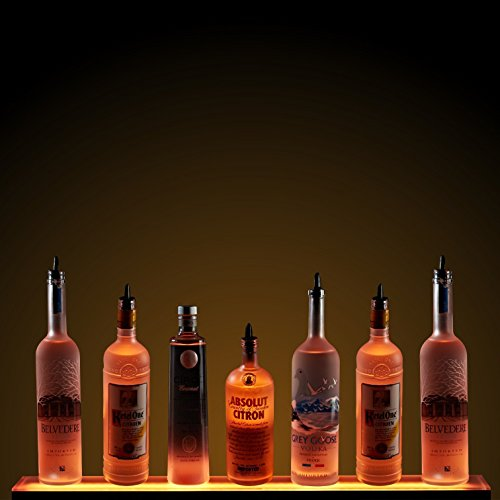 - 2' LED Liquor Shelf with Wireless RF Remote - Home Bar Lighting