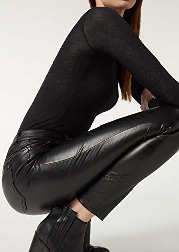 CALZEDONIA Femme Legging effet cuir thermique