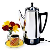 Classic Design, Elegant Model Stainless Steel Silver Coffeemaker, 12-Cup