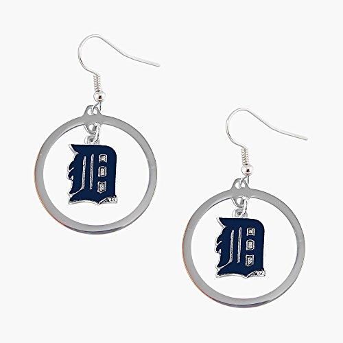 aminco Detroit Tigers hoop Logo Earring Set Mlb Charm