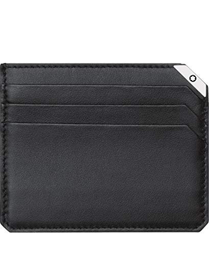 Mont Blanc 114674 Urban Spirit Black Leather Wallet 6 CC - Black