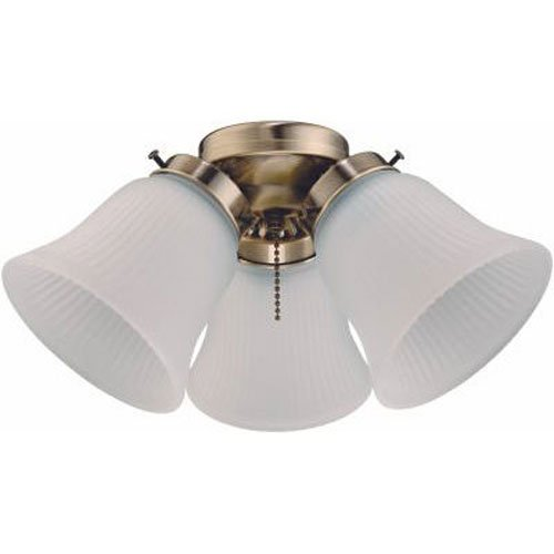 Fans lighting amazon westinghouse 7781500 three light cluster 3 inch fitter ceiling fan kit antique brass with frosted ribbed glass shades sciox Gallery
