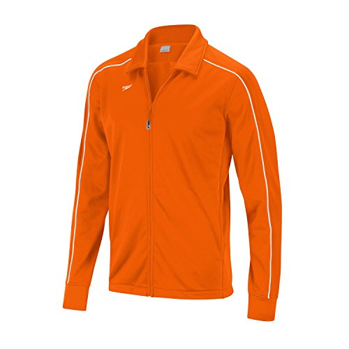 Speedo 7201482 Women's Streamline Warm Up Jacket, Orange- M