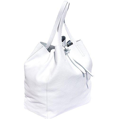 9121 De La De De Cuero Asas Blanco Bolsa Compra Genuino HqCv1wzX