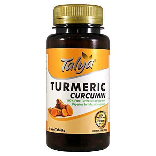 Talya Turmeric - Curcumin with Piperine Extract for Maximum Absorption - Highest Potency Available. Premium Pain Relief & Joint Support with 95% Standardized Curcuminoids Non-GMO - Gluten Free Tablets (Best Tab Available In Indian Market)