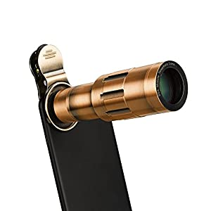 Phone Lens 20X Zoom Telephoto Lens with Universal Clip and Mini Flexible Tripod for iPhone Samsung and Most Smartphones