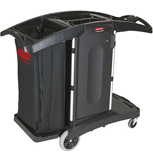 TableTop king FG9T7600BLA Executive Compact Folding Housekeeping Cart