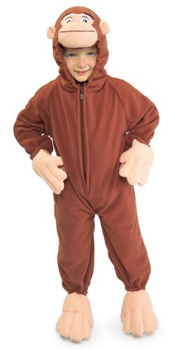 [Curious George Fleece Toddler Costume 2T-4T] (Costumes Curious George)