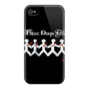 Protector Hard Phone Cases For Iphone 4/4s (Itf10326EPyN) Support Personal Customs Vivid Three Days Grace Pattern