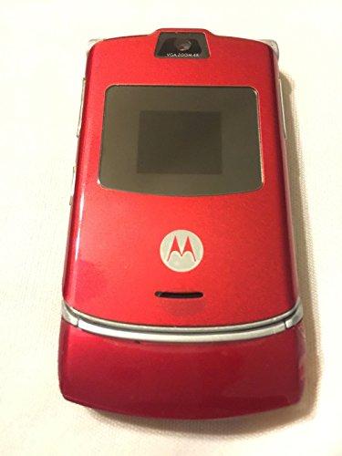 - Alltel Motorola RAZR V3a V3 No Contract Red CDMA Camera Flip Cell Phone