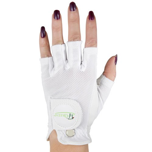 17Th Green Ladies Half-Finger Golf Gloves