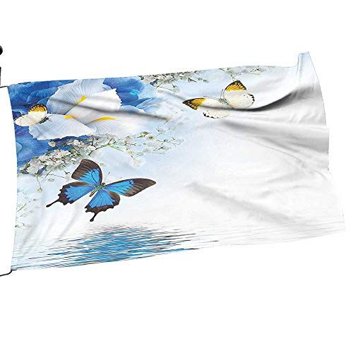 Garden Flag Pole White Wild Flowers Arch Lily Therapy Zen Spa Prints Light Blue Outdoor Funny Decorative Flags28 x 42