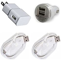Simply Silver - 2A AC Power Charger Adapter + USB Cord for Amazon Kindle Fire HD 7 X43Z60 Tablet