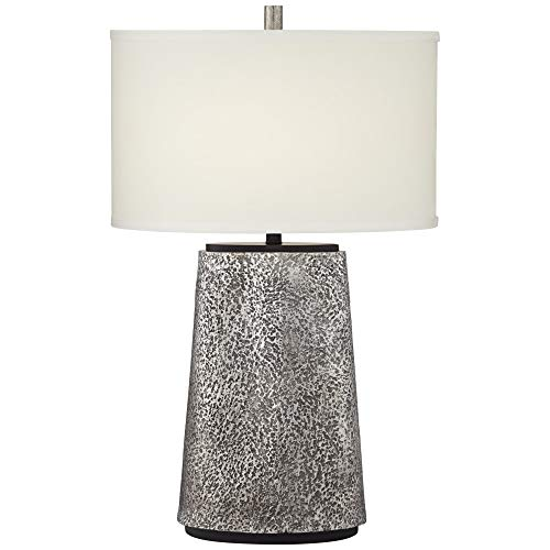 Pacific Coast Lighting 31H04 Palo Alto Hammered Metal Aged Pewter 1-Light 100W Table Lamp