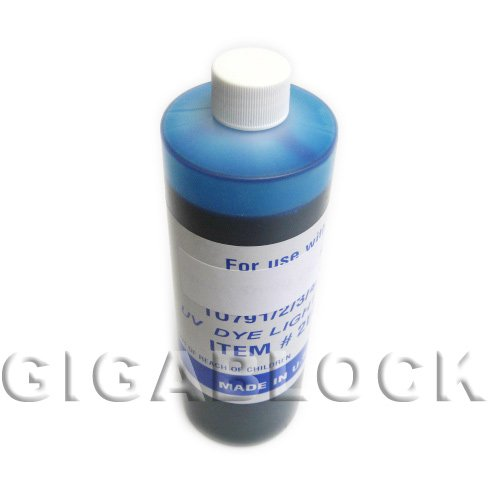 Gigablock UV Dye Based Bulk Pint(470ml) Light Cyan Refill Ink for CIS System Epson R200 R220 R300 R320 R300M RX500 RX600 RX620 Inkjet Printer - Made in USA