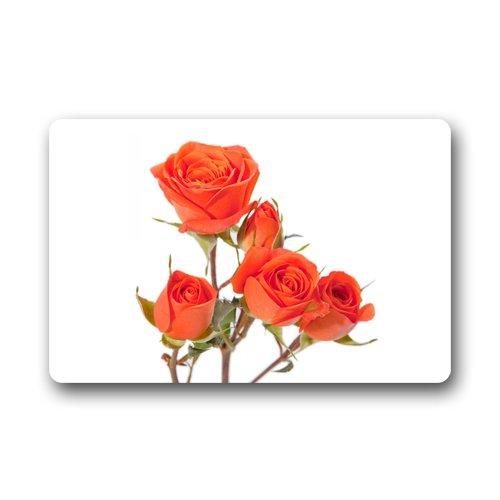 Orange Spray Roses - CustomLittleHome Custom Doormat Orange Spray Roses Machine Washable Rug Non Slip Mats Indoor/Outdoor/Bathroom/Decor Area Rug(23.6x15.7 inch)