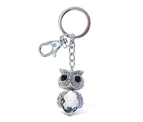 Puzzled Clear Big Eyed Owl Sparkling Charm - Inc Bags Crystal Clear Canada