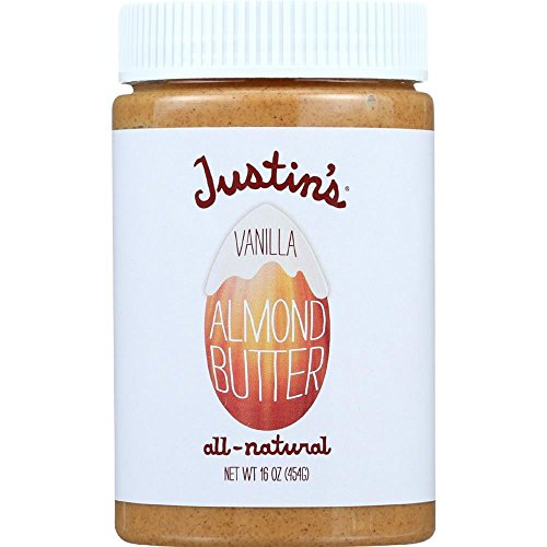 Justins Butter Almond Butter - Natural Vanilla - Jar - 16 Ounce (Pack of 6)
