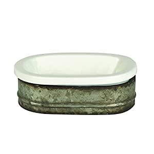 Creative Metal and Stoneware Soap Dish
