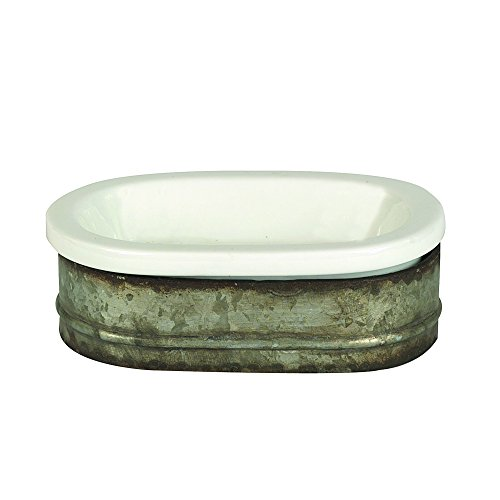 Creative Metal Stoneware Soap Dish
