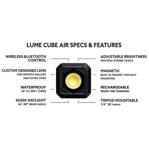 Lume Cube AIR (2 Pack) - with Free Microfiber Cloth by LUME CUBE (Image #7)