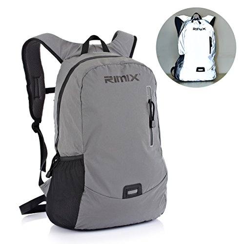Travel Outdoor Computer Backpack Laptop Bag (Grey) - 3
