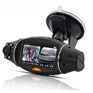 """BW SC310 Caméra auto DVR avec écran 2,7"""" rotatif, localisation GPS et capteur diurne"""