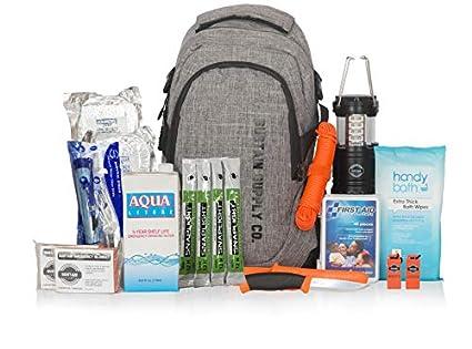 Sustain Supply Co. Essential 2-Person Bolsa de supervivencia de emergencia/Kit - Estar equipado para 72 horas de preparación de desastres con suministros básicos premium para 2 personas: Amazon.es: Amazon.es