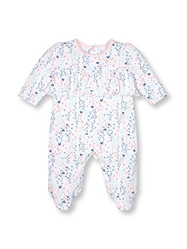 Le Top Bebe Sweet Pea Baby Girl Footed jumpsuit with Ruffles-6M