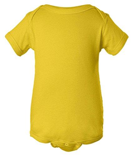 Rabbit Skins Infant Baby Rib Lap Shoulder Bodysuit (Yellow) (24)