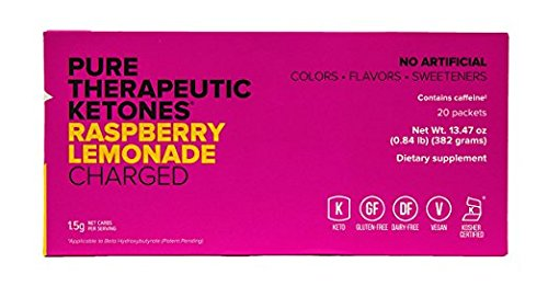 KETO//OS MAX Raspberry Lemonade CHARGED N8tive Series, BHB Beta Hydroxybutyrates Exogenous Ketones Supplements for Fat Loss, Workout Energy Boost and Weight Management through Fast Ketosis, 20 Sachets by Pruvit (Image #1)