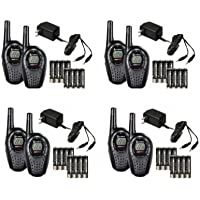8) COBRA CXT225 MicroTalk 20 Mile GMRS/FRS 22 Channel 2-Way Radio Walkie Talkies
