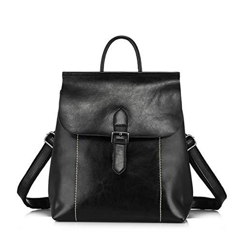 de capacité en dos d'école les de sac met dames les adolescentes fendues cuir mode en Black de grande sacs sacs Les T4wYgq4