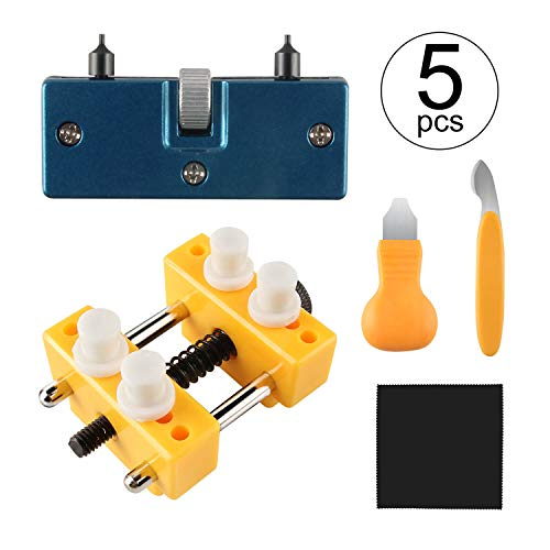 Beanlieve Watch Repair Tool Kit, Adjustable Watch Case Opener Watch Back Remover, Watch Battery Replacement Tool Kit For Various Kinds of Watch
