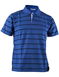 Men's Stripe Pique Polo Shirt Short Sleeve Polo Shirt