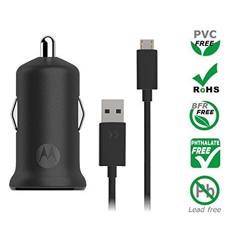 motorola TurboPower 15 - Cargador de Coche USB-A con Cable Micro-USB (para G3/G4/G4 Plus/G5 Plus/G5S/G5S Plus): Amazon.es: Electrónica