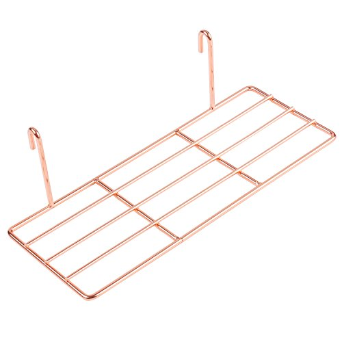 Rose Gold Straight Shelf For Gridwall/Grid Panel,Wall Mountable,Flower Pot Display Shelf Rack,Wire Organizer Storage For Wall Decor Size 9.8