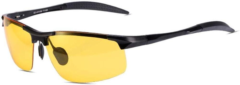 JKNK Lunettes de soleil de nuit Reedoon Polarized Yellow Lens Anti-Glare Aluminium Magnesium Frame Glasses Lunettes de conduite pour hommes femmes C1
