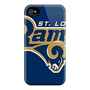 Scratch Resistant Hard Phone Case For Iphone 4/4s With Customized Nice St. Louis Rams Pictures ErleneRobinson