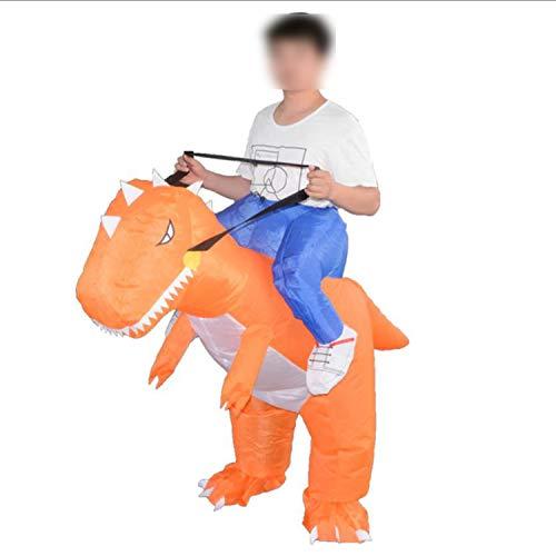 Dinosaur Costume Halloween Costume disfraces Fancy Dress Animal Cloth Fan Operated,Orange,L ()