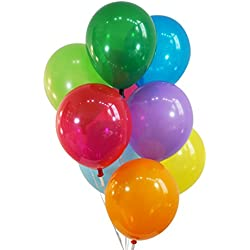 "Creative Balloons 12"" Latex Balloons - Pack of 100 Pieces - Decorator Assorted Colors"