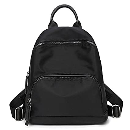 Women Bags Oxford Cloth Polyester Backpack Zipper for Casual All Season Gray Black,Black