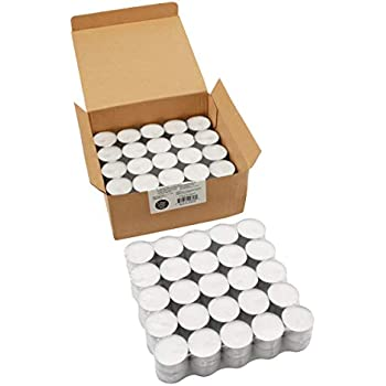 Stonebriar Long Burning Tealight Candles, 8 Hours, White, Unscented, 100 Pack