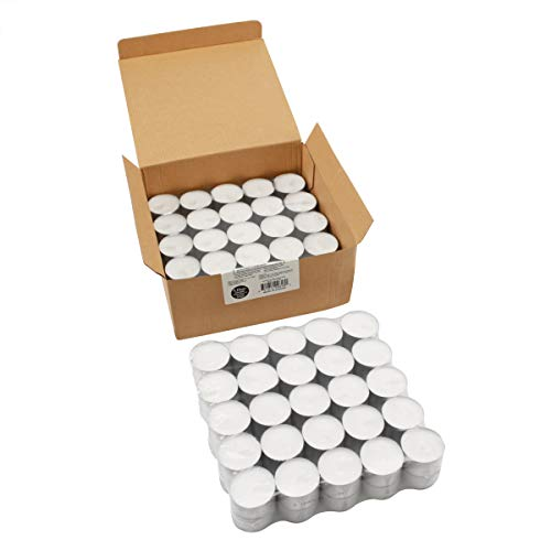 Stonebriar Long Burning Tealight Candles, 8 Hours, White, Unscented, 100 Pack, 100 Count