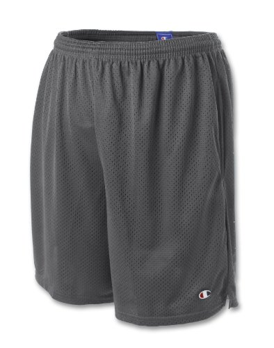 Champion Long Mesh Mens Shorts with Pockets, M-Granite