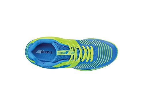 GRAYS Herren GX8500Hockey Schuhe, Blau/Grün