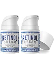 LilyAna Naturals Retinol Cream for Face - Retinol Cream, Anti Aging Cream, Retinol Moisturizer for Face, Wrinkle Cream for Face, Retinol Complex - 1.7oz - 2 Pack